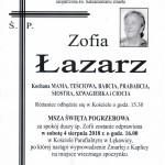 ŁAZARZ ZOFIA