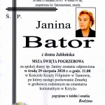 śp. Janina Bator