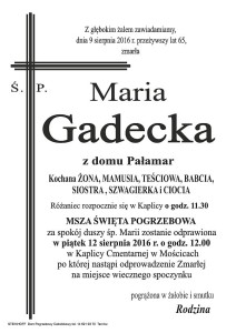 śp. Maria Gadecka