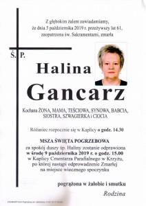 GANCARZ HALINA
