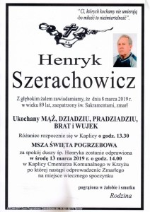 HENRYK SZERACHOWICZ