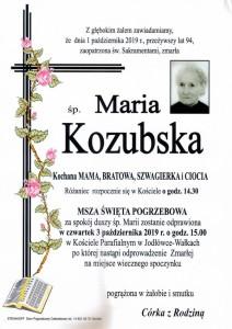 KOZUBSKA MARIA
