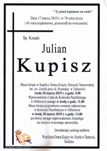 KS. JULIAN KUPISZ
