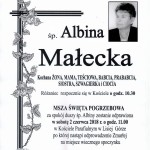 MAŁECKA ALBINA