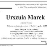 MAREK URSZULA