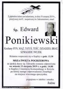 PONIKOWSKI EDWRD