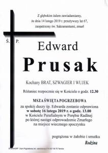 PRUSAK EDWARD