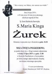 S.MARIA KINGA ŻUREK