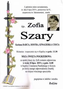 SZARY ZOFIA