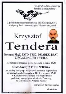 TENDERA KRZYSZTOF