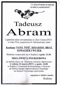 abram tadeusz