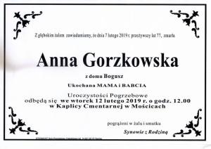gorzkowska anna