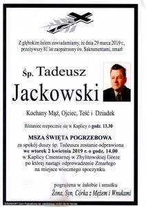 jackowski tadeusz