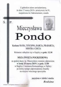 pondo mieczysława