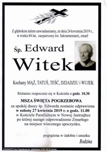witek edward